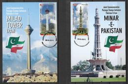PAKISTAN 2011 MAXIMUM CARDS  JOINT ISSUE PAKISTAN - PERSIA  TOWERS - Pakistan
