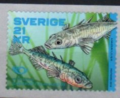 SWEDEN, 2018, MNH, NORDEN, FISH, 1v, COIL STAMP - Fishes