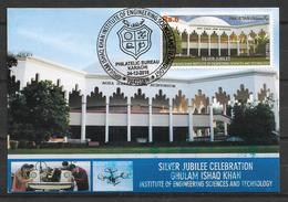 PAKISTAN 2018 MAXIMUM CARD SILVER JUBILEE CELEBRATION GHULAM ISHAQ KHAN INSTITUTE - Pakistan