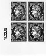 FRANCE Année 2019 170 Ans Du Premier Timbre-poste Français CÉRÈS  Coin Daté Issu Du Feuillet 150 Tp. - Unused Stamps