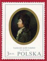 Polonia. Poland. 1970. Mi 2022. Miniatures. Tadeusz Kosciuszko (1746-1817), By Jan Rustem - 1944-.... República
