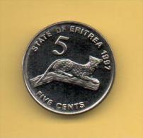 ERITREA - 5 Cents 1991 SC  KM44 - Erythrée