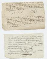 Orne, Argentan, 2 Reçus, Boirel Du Perron, Révolution, Droits Royaux,vente De Poiriers, 179, An 5 - Documenti Storici