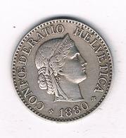 10 RAPPEN 1880 ZWITSERLAND /2172/ - Schweiz