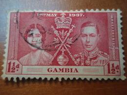 Timbre 12th May 1937 GAMBIA à Identifier, Oblitéré Avec Charnière - Gambie (1965-...)