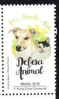 BRAZIL , 2018, MNH, ANIMAL RIGHTS, DOGS, CATS, 1v - Hunde