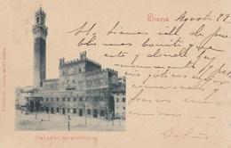 SIENA-PALAZZO MUNICIPALE-CARTOLINA VIAGGIATA IL 29-8-1899 - Siena