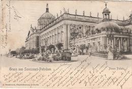 CPA Gruss Aus Sanssouci Potsdam Neues Palais Brandebourg Deutschland Allemagne - Potsdam
