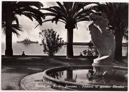 Riviera Dei Fiori, Sanremo, San Remo, Fontana Ai Giardini Oberdan, Unused Real Photo, Vera Fotografia Postcard [23071] - San Remo