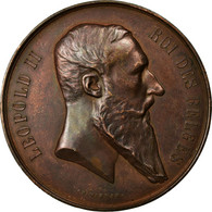 Belgique, Médaille, Léopold II, Exposition Nationale, 1880, Wiener, TTB+ - Autres