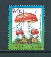 2009 Letland Pilze,mushroom Used/gebruikt/oblitere - Letland