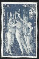MONACO , 15 Frs , 550 Anniversaire De La Naissance Du Peintre Sandro Botticelli , 1995 , N° YT 2010 , NEUF ** - Monaco