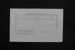BELGIQUE - Formulaire De Télégraphe De Gand , Série De 1911 , Non Utisilé - L 25216 - Telegraph