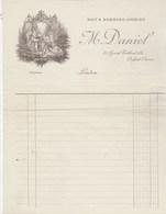 Royaume Uni Facture Illustrée Style Art Nouveau Neuve M DANIEL Day & Evening Gowns LONDON - Royaume-Uni