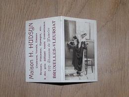 Calendrier De Poche Publicitaire 1914 MAISON HUDSYN Couleurs Vernis Pinceaux Chaussée De Waterloo à Bruxelles Vleurgat - Calendriers