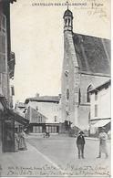 CHATILLON SUR CHALARONNE L'EGLISE COIFFEUR A GAUCHE ET PASSANTS EDIT. L. FERRAND A BOURG - Châtillon-sur-Chalaronne