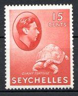 SEYCHELLES - (Colonie Britannique) - 1941 - N° 136 - 15 C. Rouge-brun - (George VI) - Seychelles (...-1976)