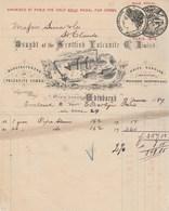 Royaume Uni Facture Illustrée 9/6/1887 Bought Of The Scottish Vulcanite Manufacturers Of Vulcanite Combs EDINBURGH - Royaume-Uni
