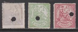 1873/74. ALEGORÍAS TALADRO TELÉGRAFOS X3. 33,5 €. VER. - Telegramas