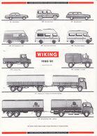 KAT239 Modellbauprospekt WIKING, 1980/81, Neuwertig - Littérature & DVD