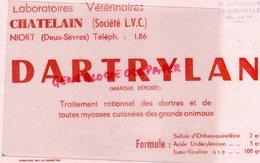 79- NIORT - BUVARD LABORATOIRES VETERINAIRES -VETERINAIRE CHATELAIN- DARTRYLAN-DARTRE MYCOSE-E. RAIMOND LA ROCHELLE - Produits Pharmaceutiques