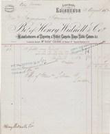 Royaume Uni Facture 13/8/1877 HENRY WIDNELL Tapestry & Velbet Carpets  EDINBURGH - United Kingdom