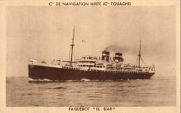 PAQUEBOT   El Biar De La  Compagnie De Navigation Mixte - Paquebots