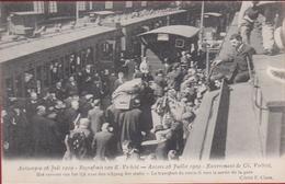 Antwerpen Begrafenis Karel Verbist Gare Centraal Station Uitgang Der Statie  Cyclist Cyclisme Cycling 1909 - Antwerpen