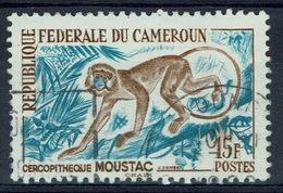Cameroon, Moustached Monkey (cercopithecus Cephus), 15f., 1962, VFU - Cameroon (1960-...)