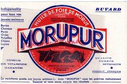 33 - BORDEAUX- BASSENS - BUVARD MORUPUR- HUILE FOIS MORUE-VITAMINE -VETERINAIRE - Animales