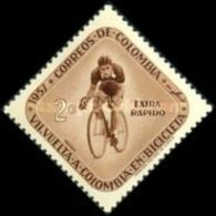 MH  STAMPS Colombia - Airmail - The 7th Round Colombia Cycle R...-1957 - Colombia