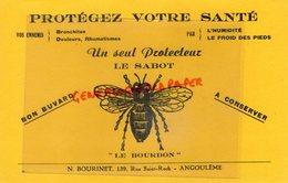 16- ANGOULEME - RARE BUVARD N. BOURINET 139 RUE SAINT ROCH- LE SABOT - LE BOURDON- PROTEGEZ VOTRE SANTE-BRONCHITE - Produits Pharmaceutiques