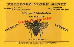 16- ANGOULEME - RARE BUVARD N. BOURINET 139 RUE SAINT ROCH- LE SABOT - LE BOURDON- PROTEGEZ VOTRE SANTE-BRONCHITE - Drogisterij En Apotheek