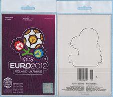 UKRAINE / STICKER  / POLAND /  Football. Europe Championship. UEFA . EURO 2012. - Uniformes Recordatorios & Misc