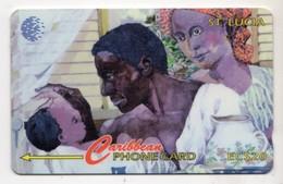 SAINTE LUCIE REF MV CARDS STL-60A A Année 1996 FAMILY 20$ 60CSLA - Sainte Lucie