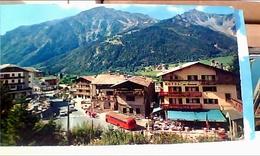 COURMAYEUR HOTEL AU CHAMOIS PIAZZALE POSTE  AUTOBUS  VALLE D'AOSTA VB1961 HB8522 - Altre Città