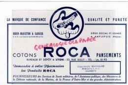 16- ROUILLAC - BUVARD PHARMACIE BONNEAU- COTONS ROCA PANSEMENTS-PHARMACIEN PHARMACIE-LYON -ROBIN MARIETON CARRIER - Drogisterij En Apotheek