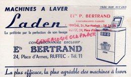 16- RUFFEC - ETS P. BERTRAND -ANGOULEME- RARE BUVARD MACHINES A LAVER LADEN- LAVAGE-24 PLACE D' ARMES - Pulizia
