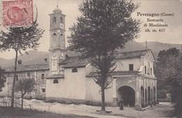 PEVERAGNO-CUNEO-SANTUARIO DI MONFAIONIS-CARTOLINA VIAGGIATA IL 13-1-1916 - Cuneo
