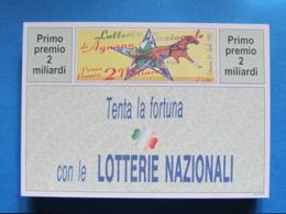 CARTOLINA LOTTERIA NAZIONALE AGNANO 1995 - Biglietti Della Lotteria