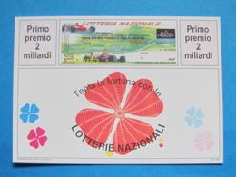 CARTOLINA LOTTERIA NAZIONALE GRAN PREMIO F1 SAN MARINO IMOLA 1995 - Biglietti Della Lotteria