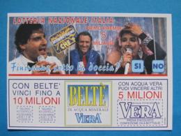CARTOLINA LOTTERIA NAZIONALE ITALIA 1994 SCOMETTIAMO CHE ESTRAZIONE 1995 - Biglietti Della Lotteria