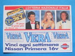 CARTOLINA LOTTERIA NAZIONALE ITALIA 1995 SCOMETTIAMO CHE ESTRAZIONE 1996 - Biglietti Della Lotteria
