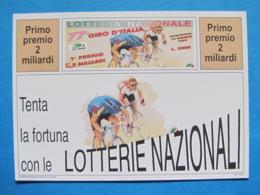 CARTOLINA LOTTERIA NAZIONALE 77° GIRO D'ITALIA 1994 - Biglietti Della Lotteria