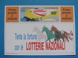 CARTOLINA LOTTERIA NAZIONALE AGNANO 1994 - Biglietti Della Lotteria