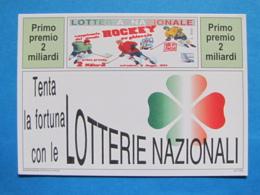 CARTOLINA LOTTERIA NAZIONALE CAMPIONATO DEL MONDO HOCKEY SU GHIACCIO VAL DI FASSA 1994 - Biglietti Della Lotteria