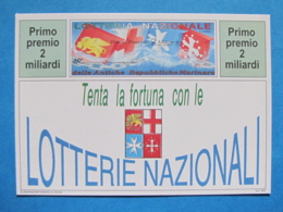 CARTOLINA LOTTERIA NAZIONALE ANTICHE REPUBBLICHE MARINARE 1994 - Biglietti Della Lotteria