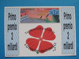 CARTOLINA LOTTERIA NAZIONALE REGATA STORICA VENEZIA 1993 - Biglietti Della Lotteria