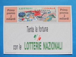 CARTOLINA LOTTERIA NAZIONALE DELLA SARTIGLIA ORISTANO 1994 - Biglietti Della Lotteria