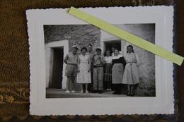 Finistère Ouessant Gardien De Phare à Gauche  En Famille Année 60 Photo 11x7 - Ouessant